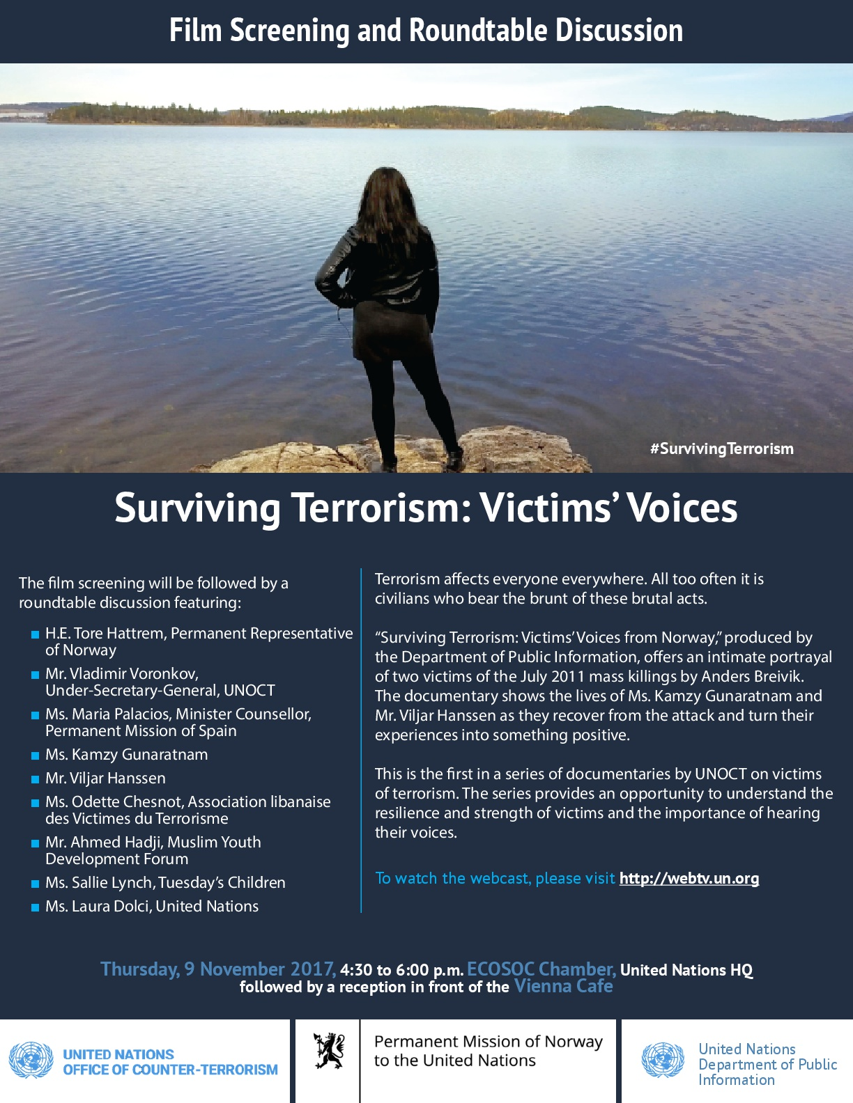 Surviving terrorism victims voices norway in the un the event aims to raise awareness on the importance of supporting victims during their recovery and will include the screening of a documentary that stopboris Images