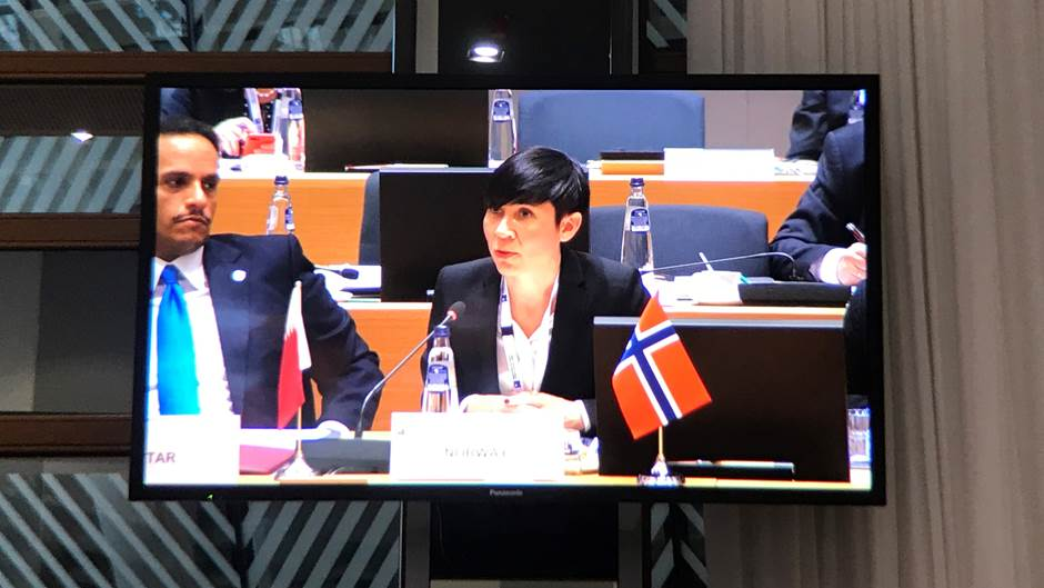 Foreign Minister Ine Eriksen Søreide attended the conference for Syria in Brussels.