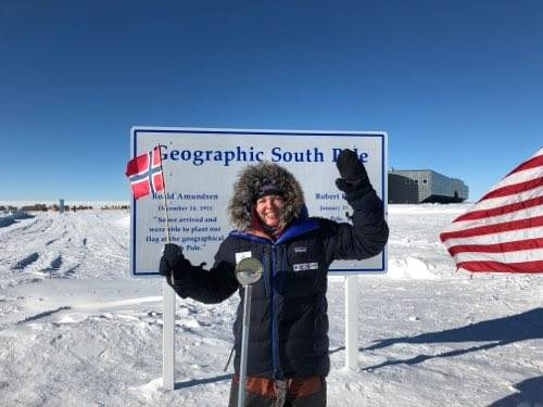 Astrid Furholt reaches the South Pole