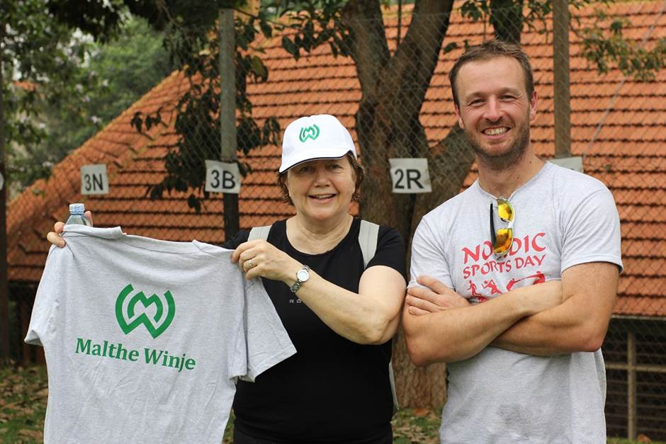 Norwegian company Malthe Winje provided t-shirts and caps for the event