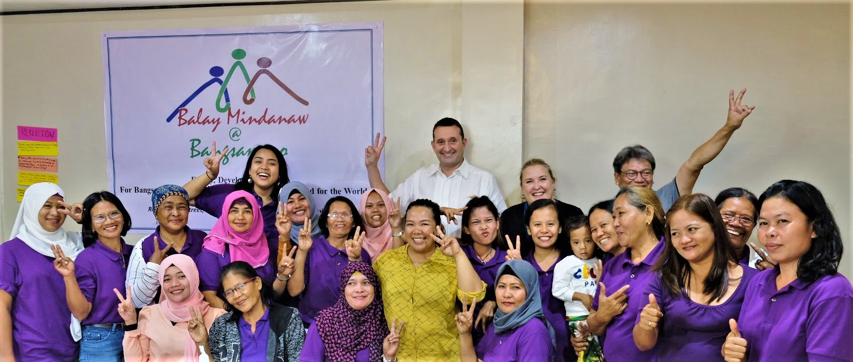 Ambassador Bjorn Jahnsen, Ms. Larissa Kosanovic, together with the women of Aleosan North Cotabato