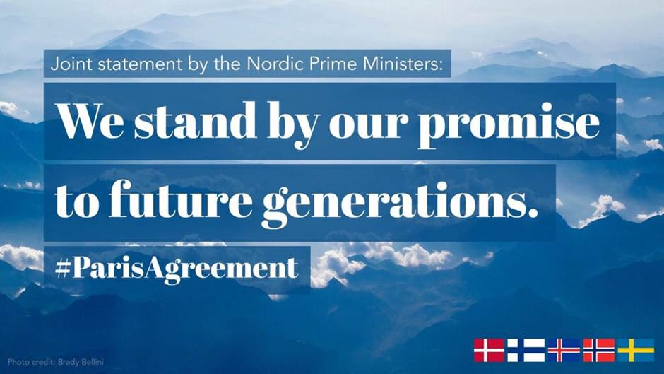 Nordic Countries Express Support For The Paris Agreement Norway In