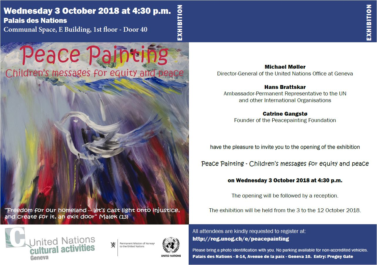 Peacepainting - Photo:United Nations cultural activities Geneva