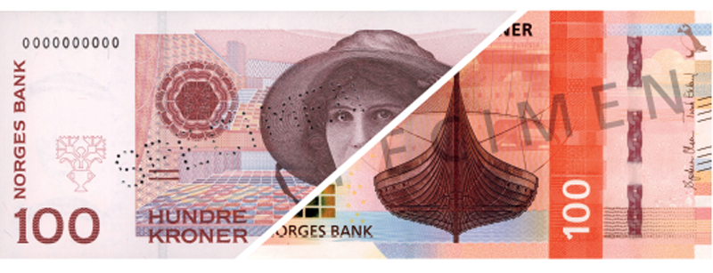 The old and new banknotes - Foto:Norway's central bank