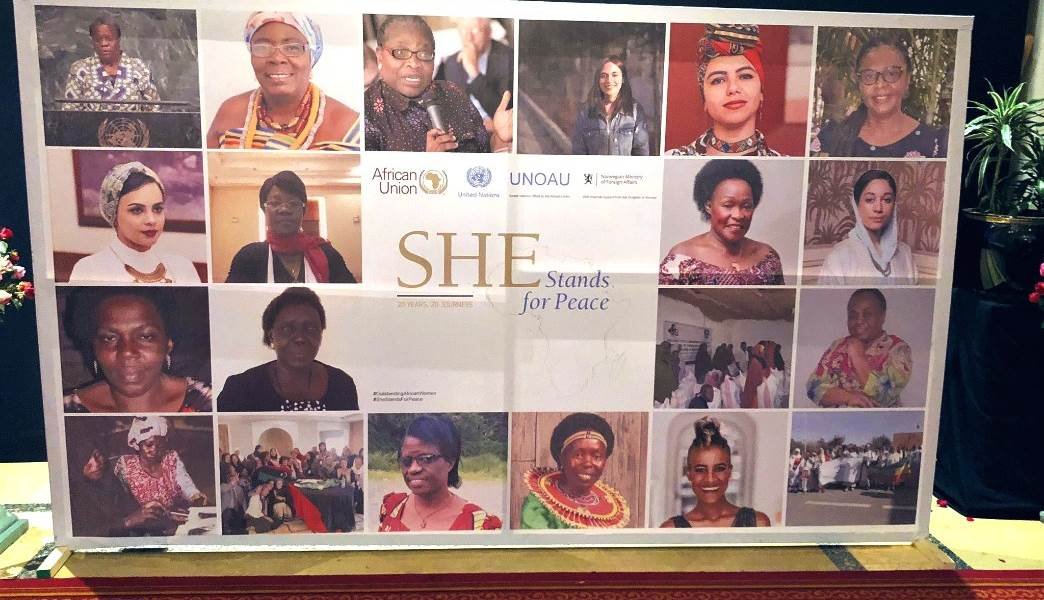 "The strong women in ""She Stands for Peace""."