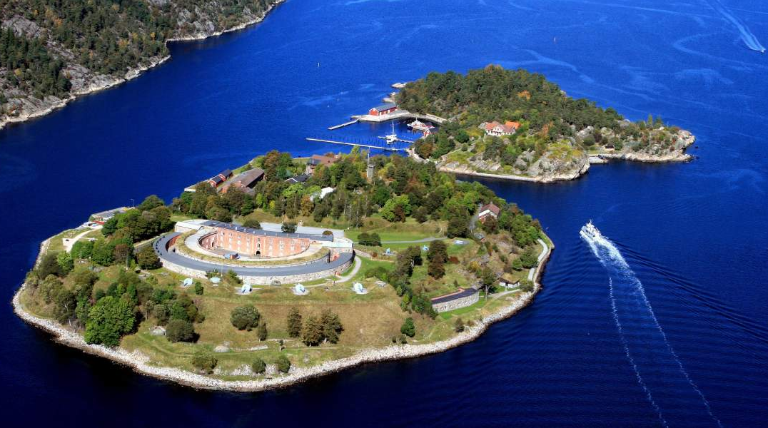 Air-view of Oscarsborg fortress
