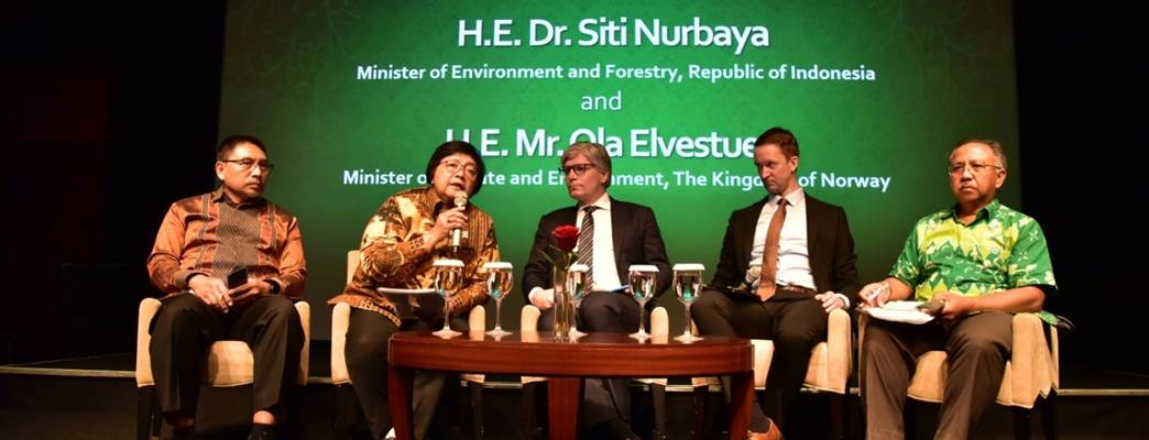 Press conference with Minister Nurbaya and Minister Elvestuen