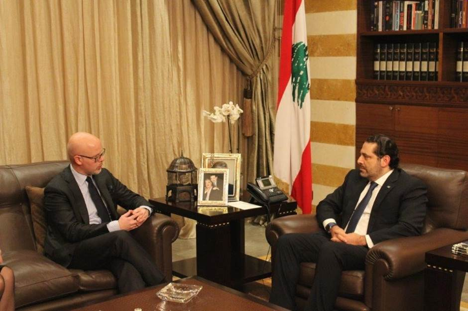 State Secretary Halvorsen meeting with PM Hariri