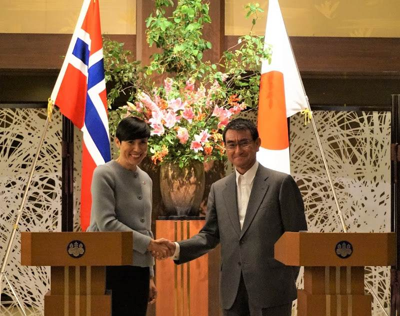 Foreign ministers - 写真:Norwegian Embassy, Tokyo