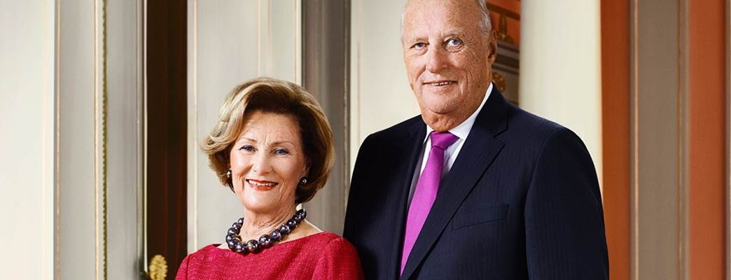 Their Majesties King Harald and Queen Sonja.  - Photo:Jørgen Gomnæs / The Royal Court