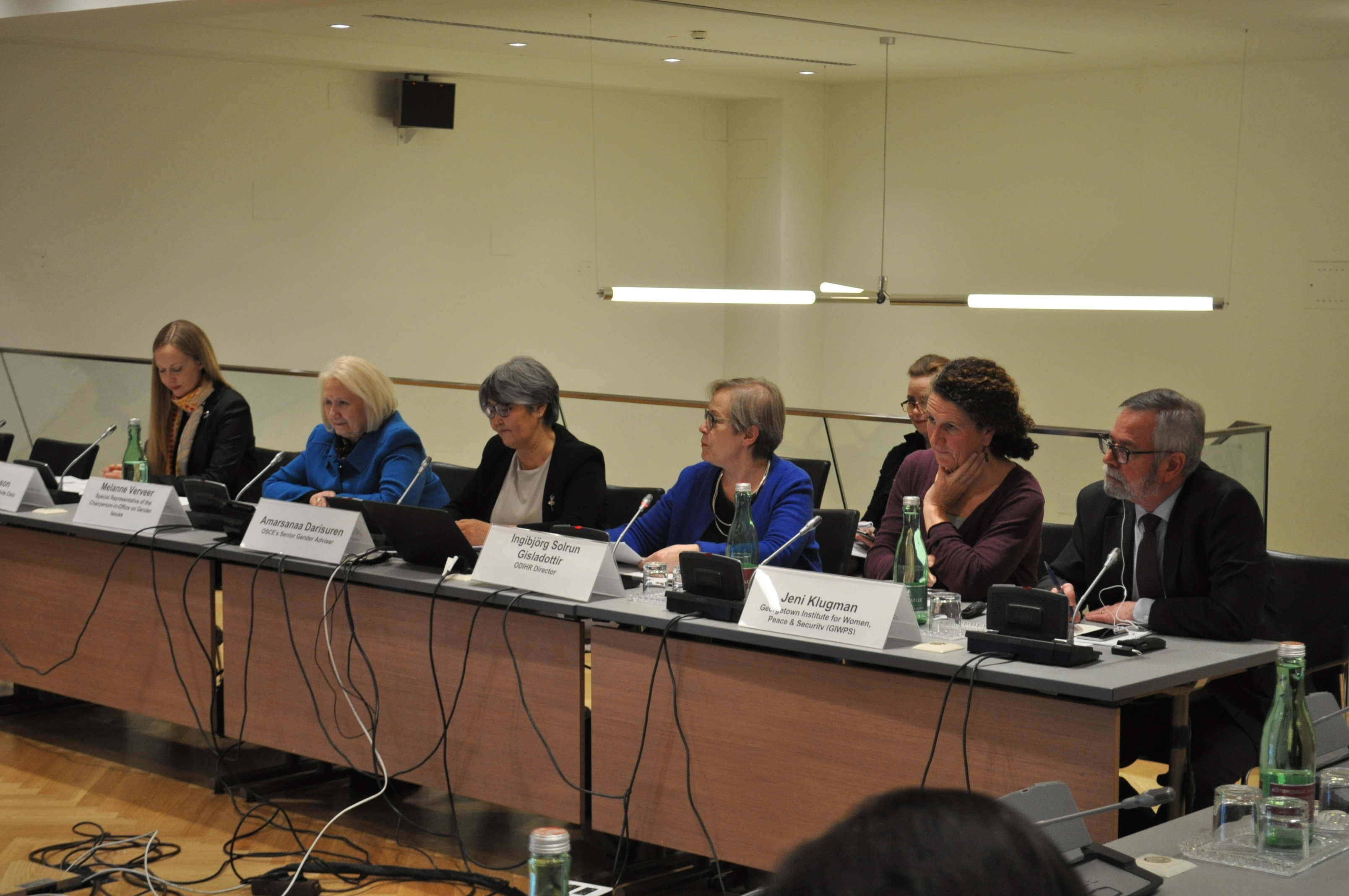 Panelists at the presentation of the Women Peace and Security Index