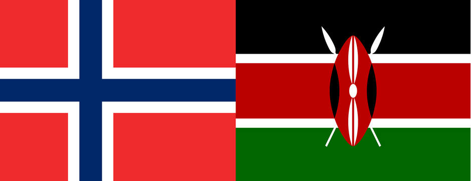 Flags of Norway and Kenya - Photo:F