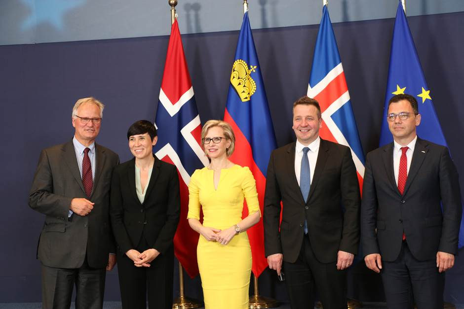 Climate change and working together to achieve the Paris-agreement were among the themes being discussed during the political talks which took place between Norway, Iceland, Liechtenstein and the EU in the 51st EEA council in Brussel May 20th.