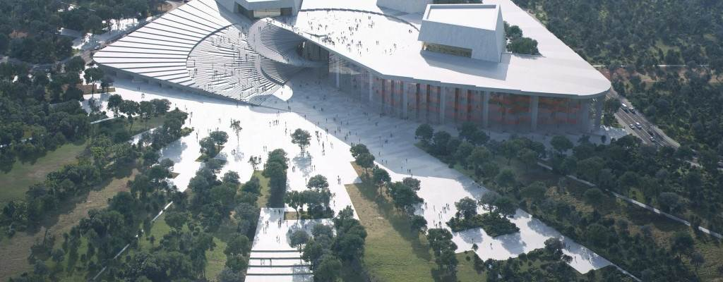 Project illustration of the new Shanghai Grand Opera House designed by Snøhetta. Copyright: Snøhetta
