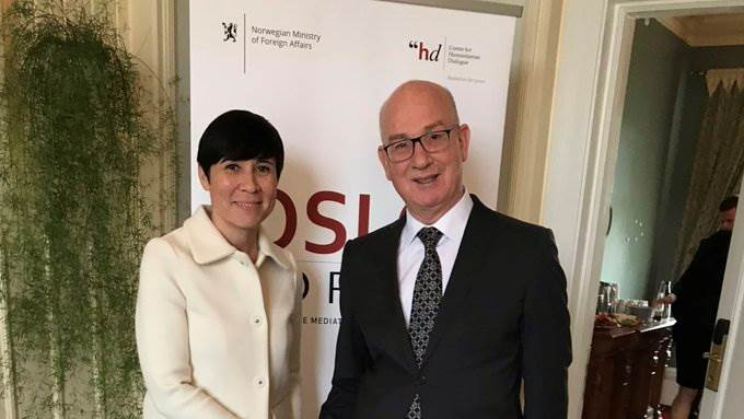 Norway's Foreign Minister Ine Marie Eriksen Søreide & African Union Commissioner for Peace and Security Smail Chergui at #OsloForum 2019.