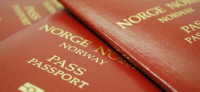 Image of a norwegian passport