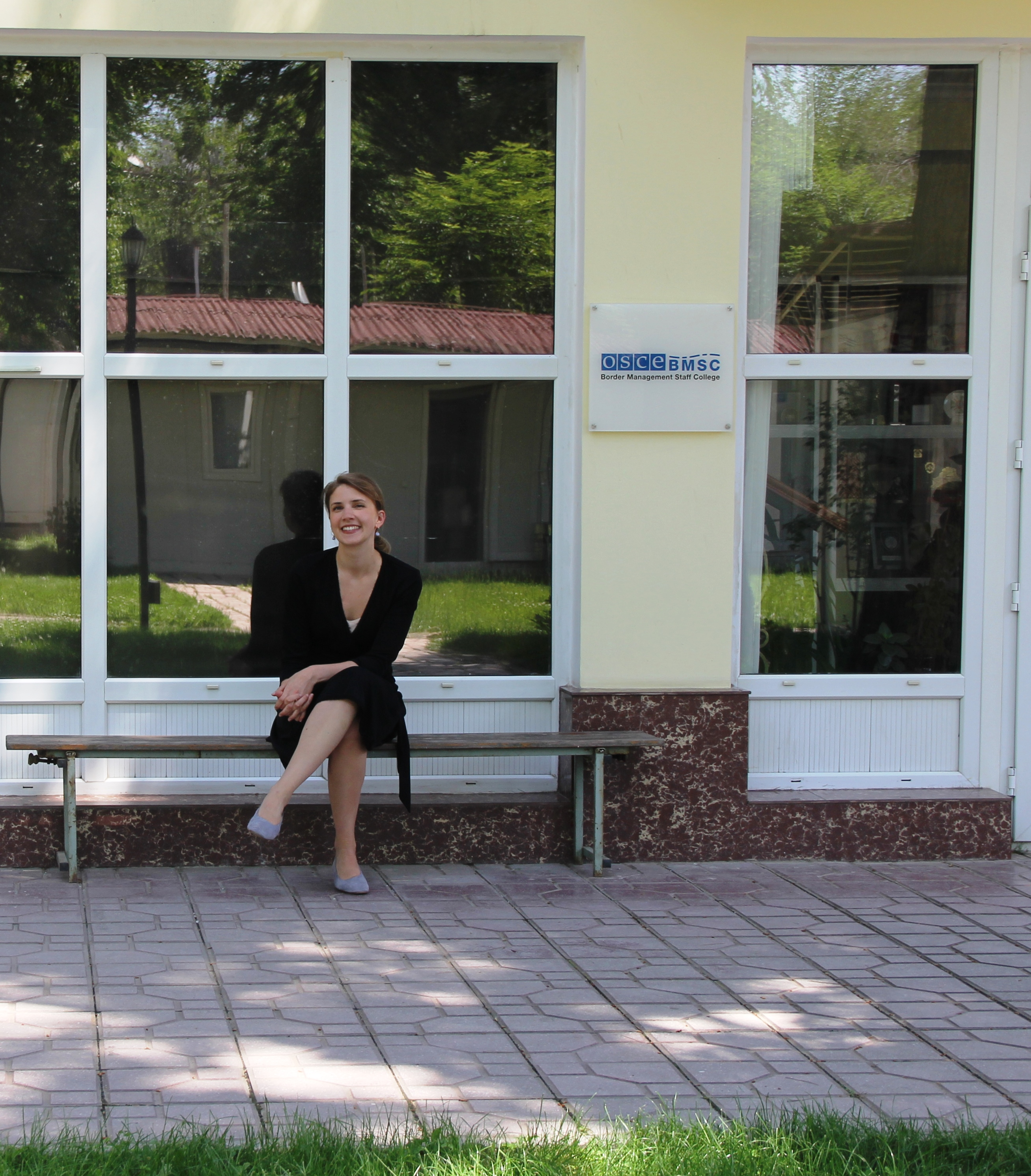 Maren Bredesen at the OSCE Border Management Staff College in Tajikistan