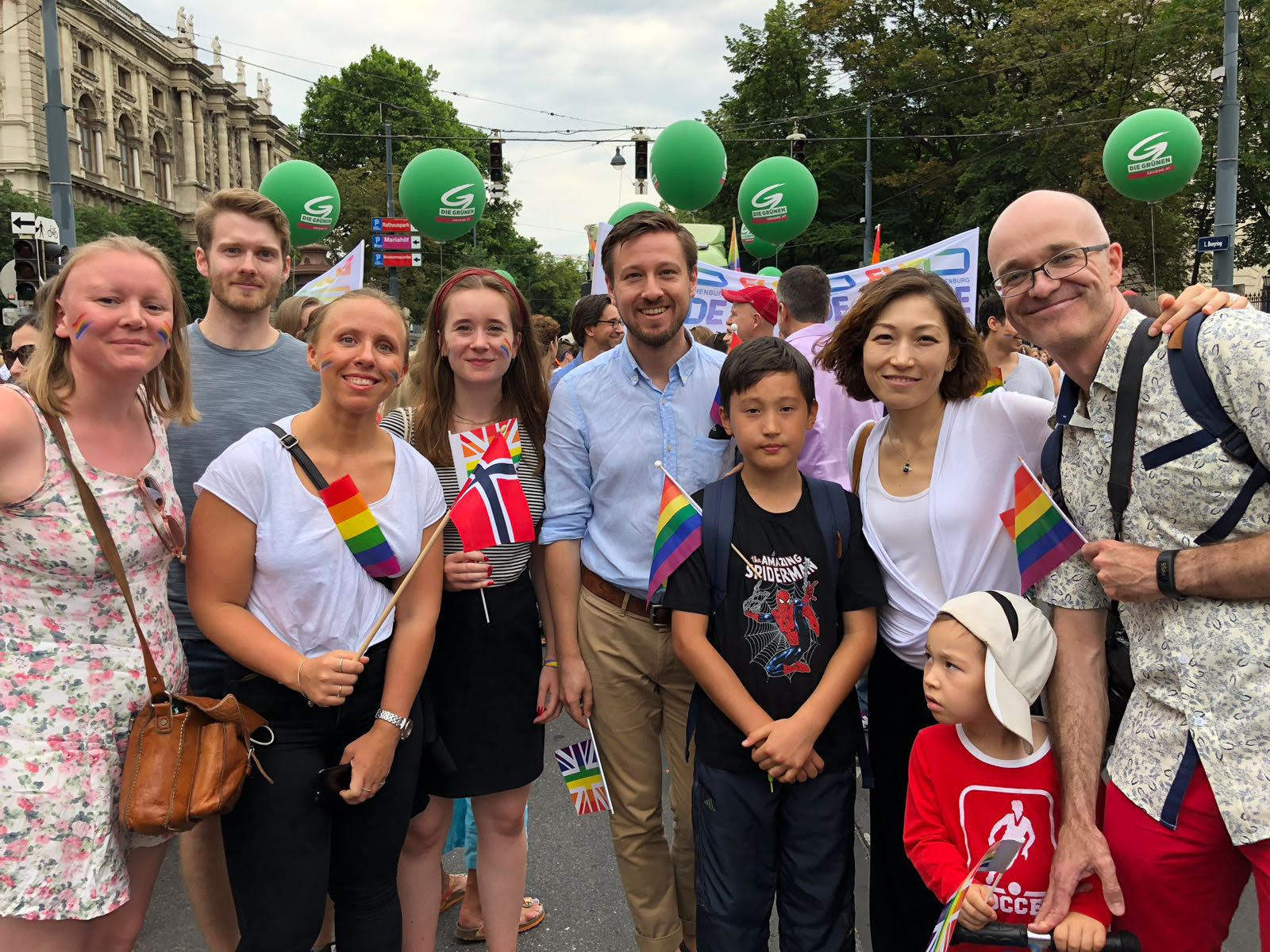 Norwegian participants at Pride in Vienna